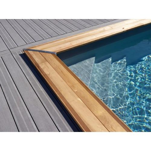 Piscine bois hors sol maeva 10x5m escalier d 39 angle for Accessoire piscine bois