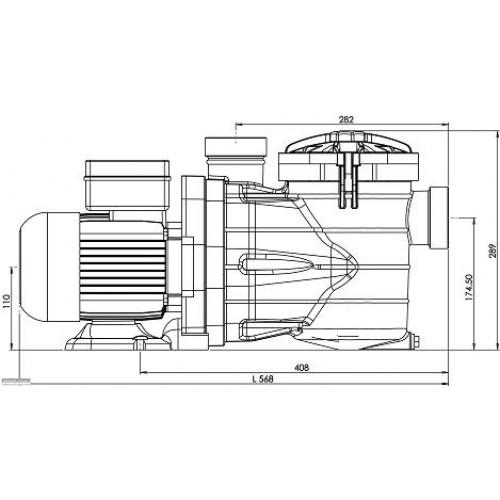 Pompe de piscine vipool mjb 10m3 h 3 4cv for Piscine 10m3