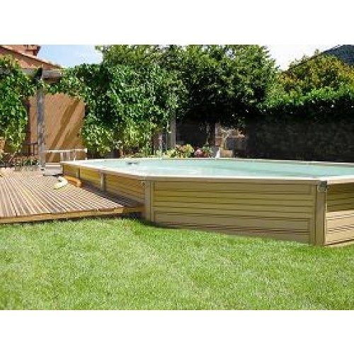 Zodiac azteck semi enterrer ovale for Piscine bois a enterrer