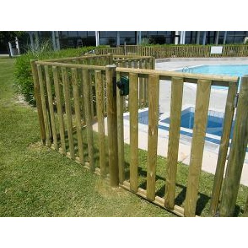 Poteau sceller ecobois suppl mentaire for Cloture bois piscine