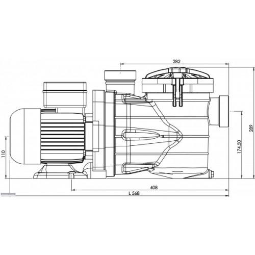 pompe de piscine vipool mjb 10m3 h 3 4cv triphas e. Black Bedroom Furniture Sets. Home Design Ideas