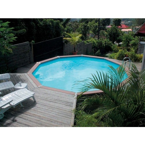Zodiac azteck enterrer ronde for Piscine bois a enterrer
