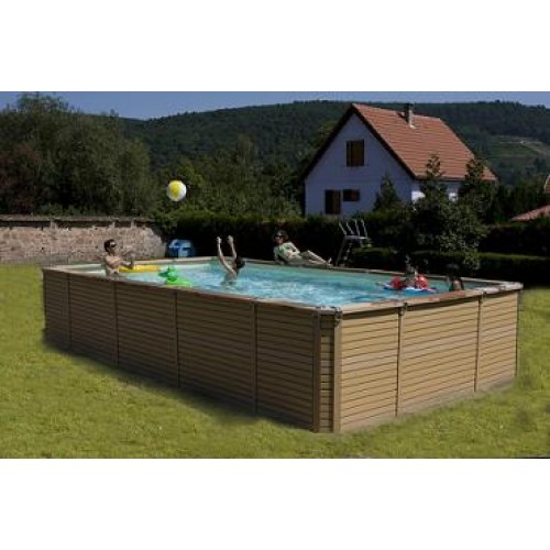 Zodiac azteck hors sol rectangle piscine bois for Piscine en kit rectangulaire