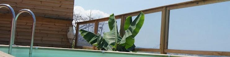 barri re de piscine transparente en bois et pmma la s curit presque naturelle. Black Bedroom Furniture Sets. Home Design Ideas